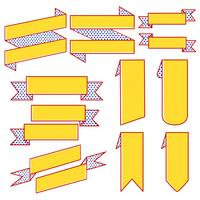 Set Farbbandfahnenvektoren