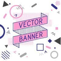 Ribbon Banner Vektordesign