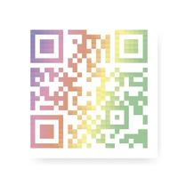 Colorful QR code illustration
