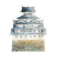 Château de Himeji dans le vecteur du Japon