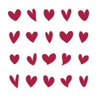 Colección de iconos ilustrados del corazón