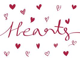 Collection of illustrated heart icons