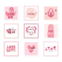 Lovely romantic card set