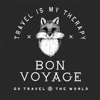 Bon voyage logo design vector
