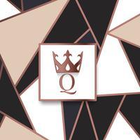 Premium Q varumärkesdesign vektor