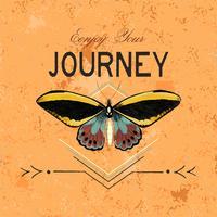 Aproveite seu vetor de design de logotipo de viagem