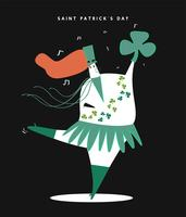 Saint Patrick dag koncept illustration
