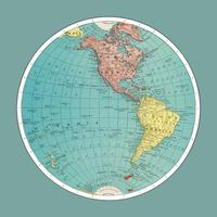 Hemisfério Ocidental, Atlas Mundial por Rand, McNally e Co. (1908) Melhorado digitalmente por rawpixel.