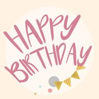 Buon compleanno disegno vettoriale di tipografia