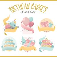 Sammlung bunte Geburtstagsausweisvektoren