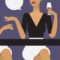 Femme à une fête illustration