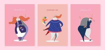 Karakterillustratie van de dag van de valentijnskaart
