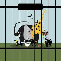 Hjälplösa djur hålls i fångenskap