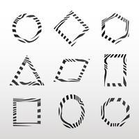 Collection de vecteurs de badge abstrait noir et blanc