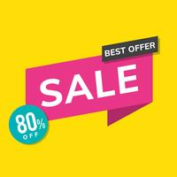 Best offer sale 80% promotion advertisement vector