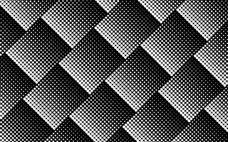 Halftone design in black and white