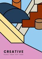 Creatief, kleurrijk geometrie grafisch ontwerp