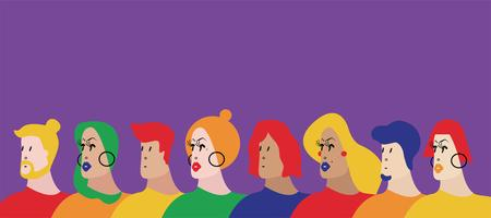 Colorful group of people vector illustration