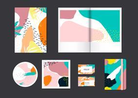 Colorido conjunto de vectores de patrón de Memphis