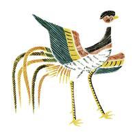 Weinlese-Illustration des japanischen Hahns