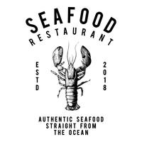 Vettore di progettazione di logo ristorante di pesce