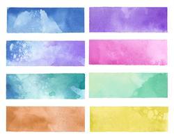 Färgglada målade akvarellbakgrunder vektor