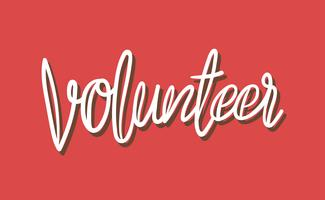Stile dell'illustrazione di tipografia del volontario della scrittura a mano