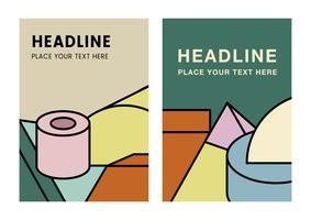 Diseño gráfico colorido maqueta titular