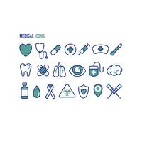 Set of medical health icons vector