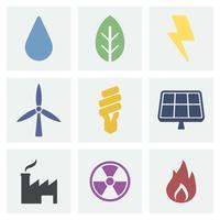 Illustration d'icônes Eco et vert