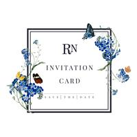 Illustration de carte floral invitation de mariage