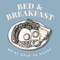 Vecteur de conception de logo Bed and Breakfast