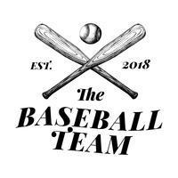 The baseball team logo design vector