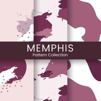 Pink Memphis pattern design vector
