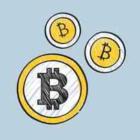Bitcoin-Cryptocurrency-Konzept-Symbolillustration
