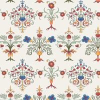Vintage flourish pattern wallpaper