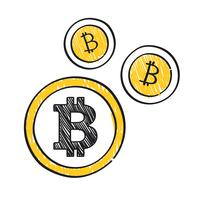 Bitcoin cryptocurrency koncept symbol illustration