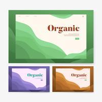 Gráfico de site informativo de plantio orgânico