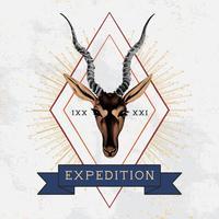 Expedición viajes logo diseño vectorial