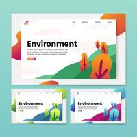 Gráfico de sitio web informativo de medio ambiente y naturaleza.