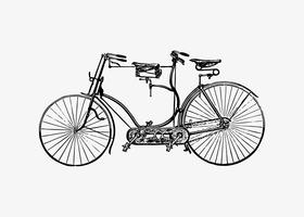Tandem bicycle vintage design