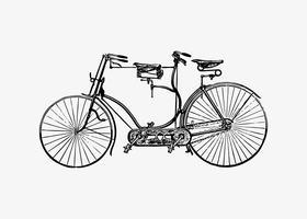 Diseño tandem de bicicleta vintage