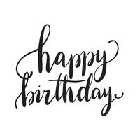 Alles Gute zum Geburtstag Typografie-Artvektor