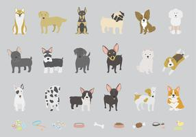Illustration of different breeds of dogs