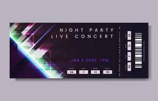 Boleto de concierto en vivo