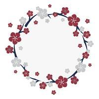 Japansk blommarram