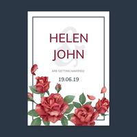Invitation card with a red color scheme