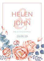 Biglietto d'invito con un tema floreale