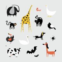 Collection d'illustrations d'animaux mignons