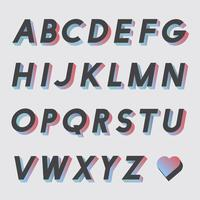 Set of alphabet vectors